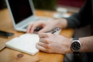 notebook-writing-watch-work-hand-finger