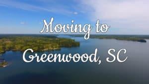 Aerial view of Lake Greenwood in Greenwood, SC.