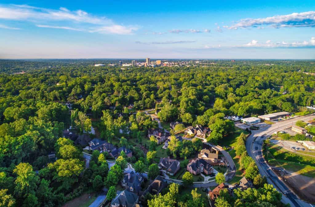 View from Paris Mountain near Wade Hampton SC