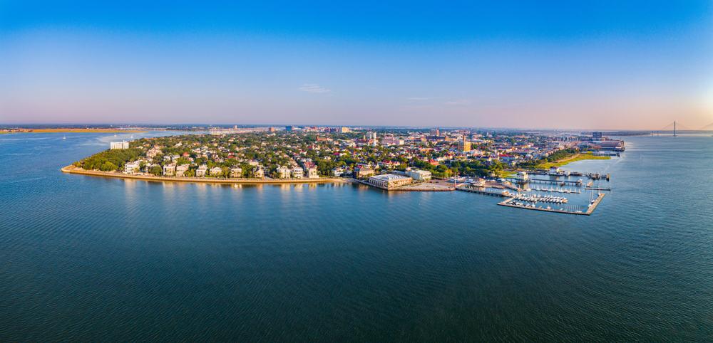 Aerial view of Mount Pleasant, SC